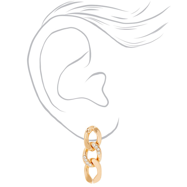 Gold Chain Link Jewellery Set - 2 Pack,