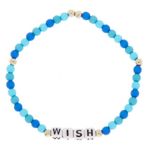 Wish Beaded Stretch Bracelet - Blue,