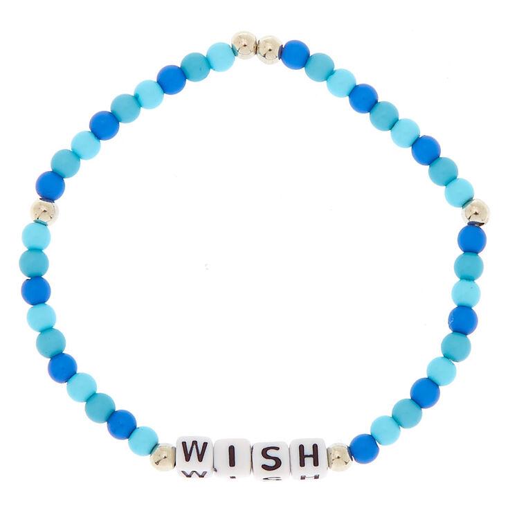 Wish Beaded Stretch Bracelet - Blue,