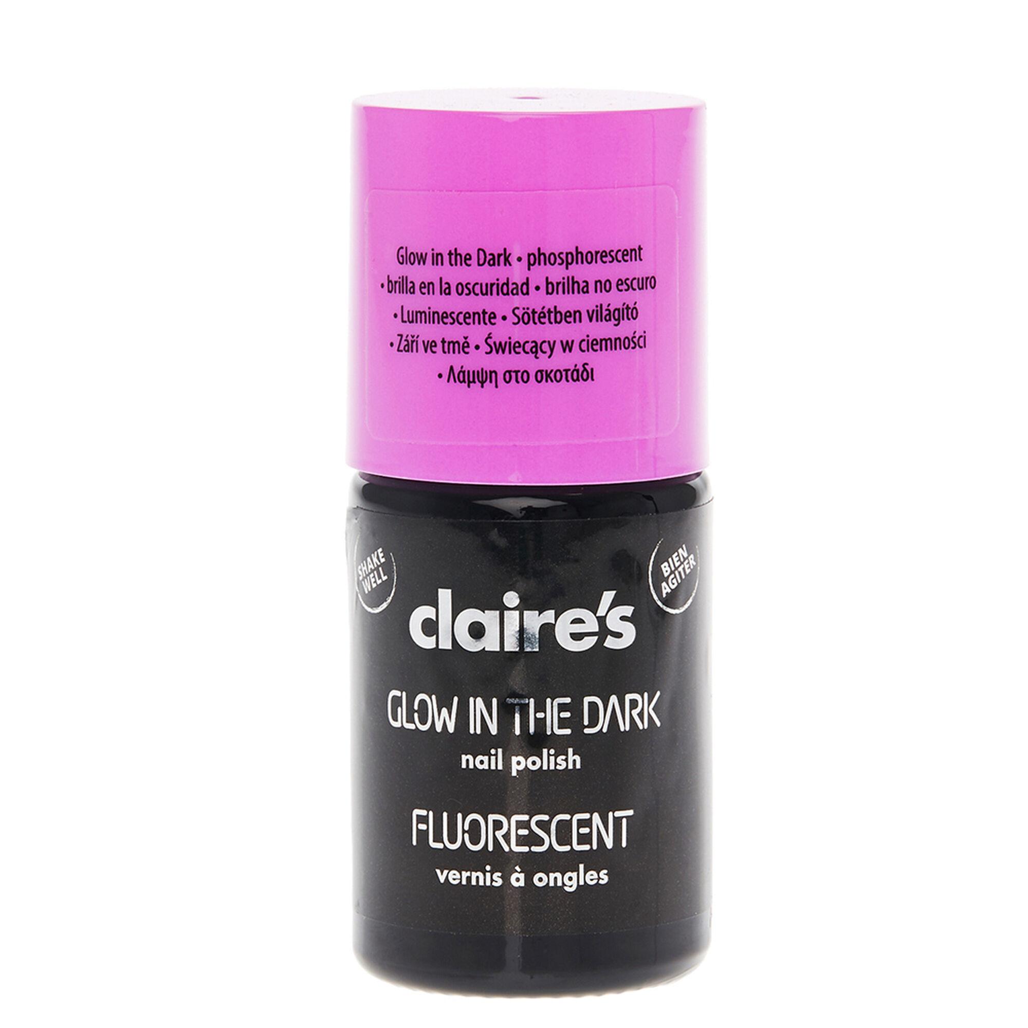 Purple Glow In The Dark Fluorescent Nail Varnish   Claire\'s