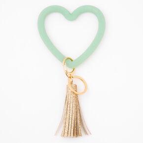 Heart Tassel Keychain - Mint,