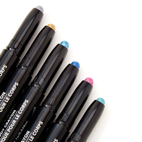 Metallic Body Crayons - 6 Pack,