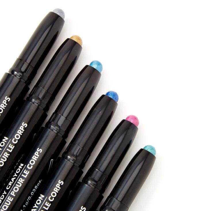 Metallic Body Crayons - 6 Pack,