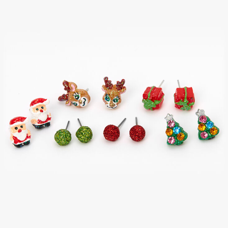 Christmas Favourites Stud Earrings - 6 Pack,
