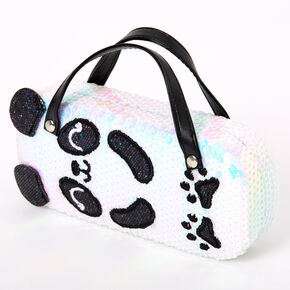 Claire's Club Sequin Panda Sunglasses Case,