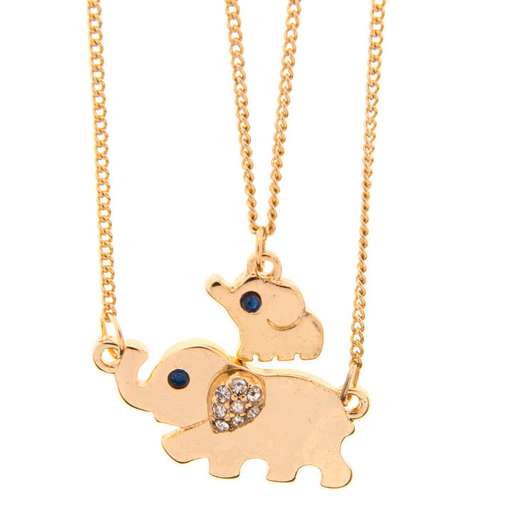 Gold mama and baby elephant pendant necklace claires us gold mama and baby elephant pendant necklace aloadofball Gallery