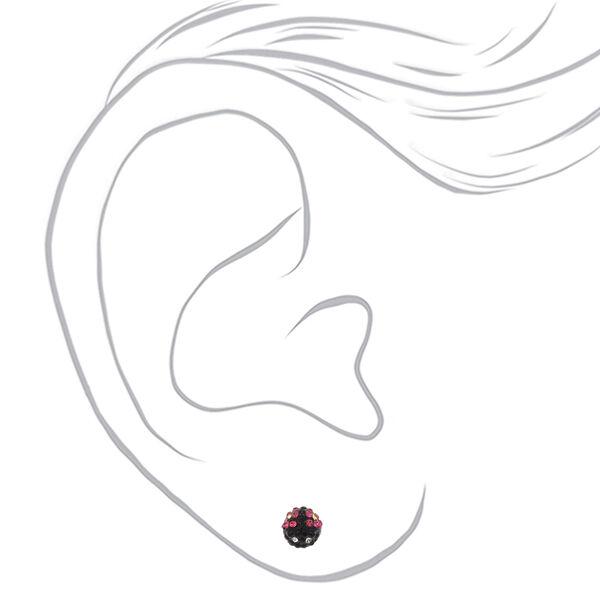 Claire's - ladybug magnetic stud earrings - 2