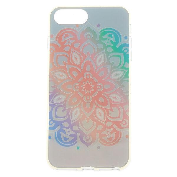Claire's - pastelholographic mandala phone case - 1