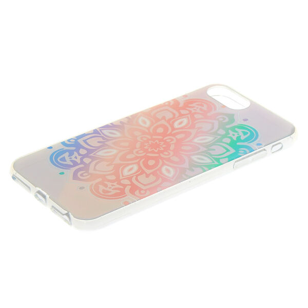 Claire's - pastelholographic mandala phone case - 2