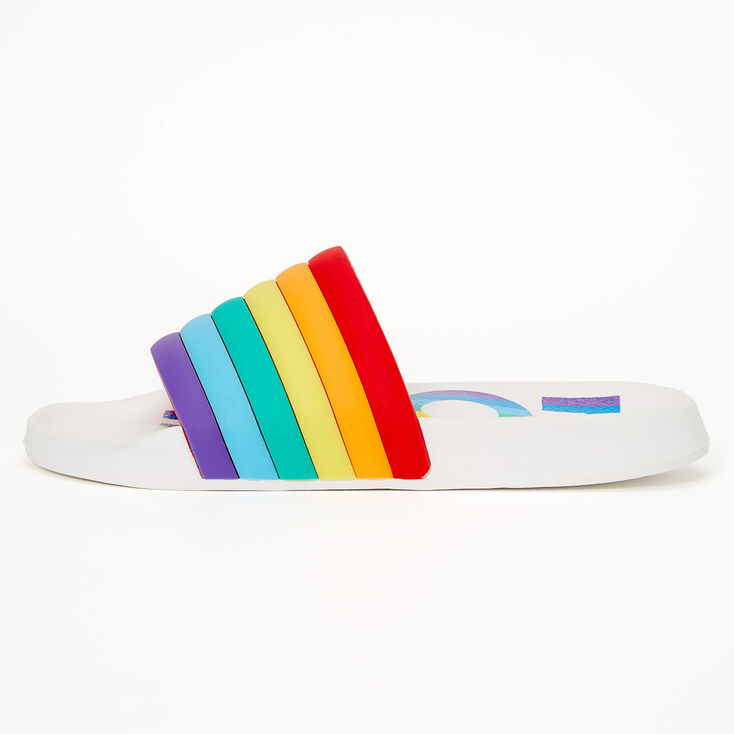 Rainbow Love Slide Sandals,