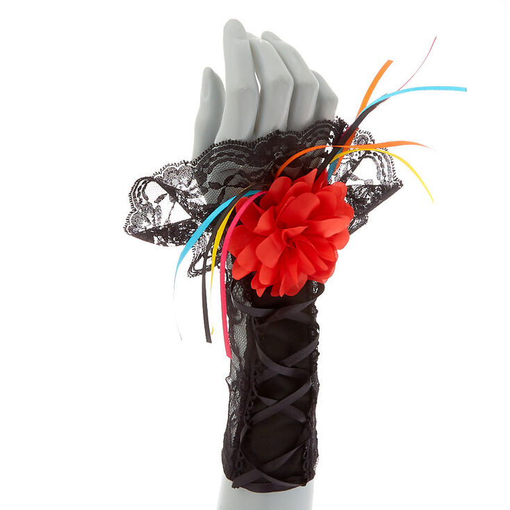 Day of The Dead Arm Warmers - Black,