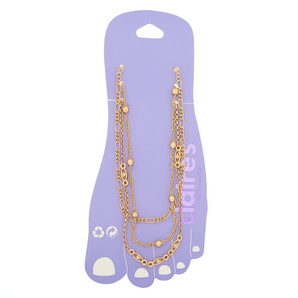 Claire's - mixed chain anklets - 1
