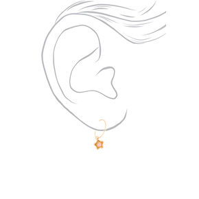 Gold Studs and Charm Hoop Earrings - 20 Pack,