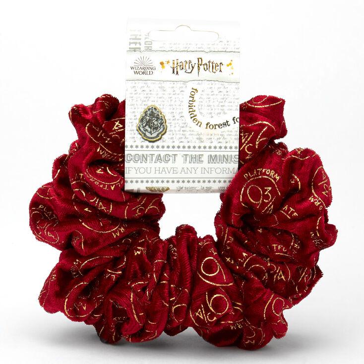 Harry Potter Platform 9 3/4 Velvet XL Hair Scrunchie – Red,