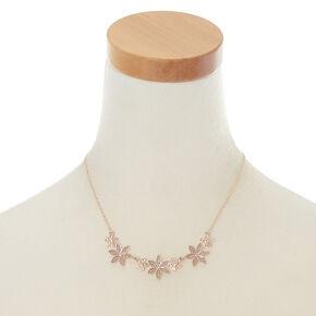 Rose Gold Glitter Flower Jewellery Set,