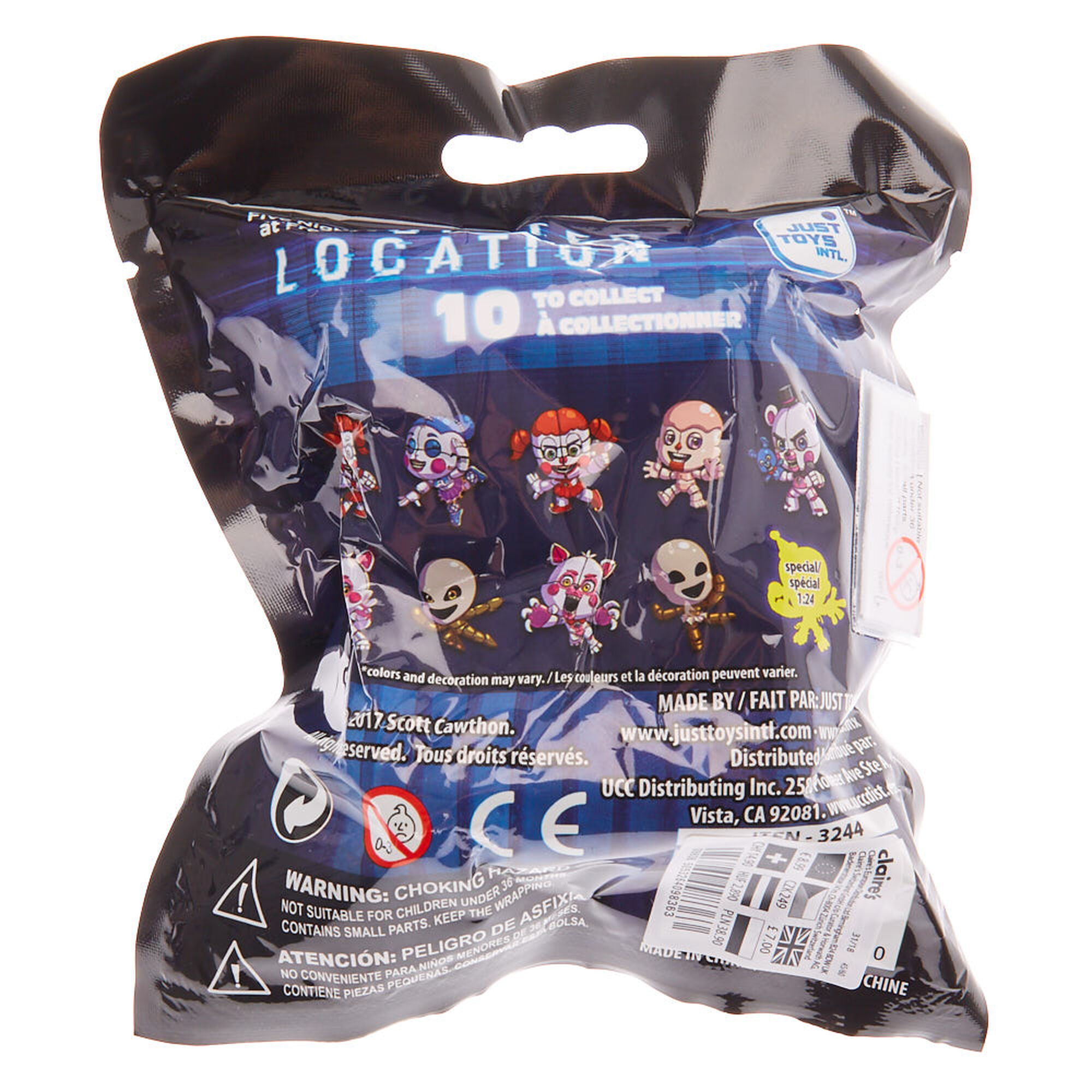 Five Nights at Freddy's: Sister Location™ Backpack Hangers Surprise Bag