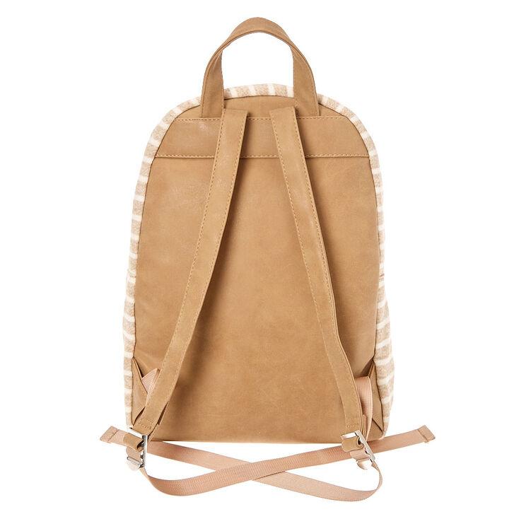 Neutral Striped Backpack - Tan,