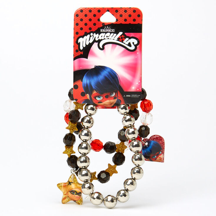 Miraculous™ Beaded Stretch Bracelets – 3 Pack,