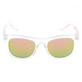 Claire's Club Square Retro Sunglasses - Clear,