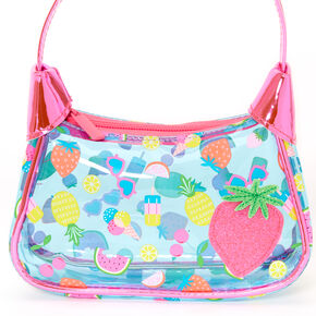 Claire's Club Tropical Summer Icon Transparent Handbag,