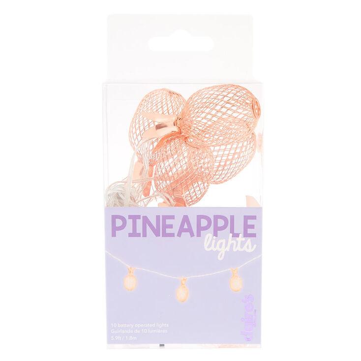 Guirlande lumineuse ananas couleur doré rose,
