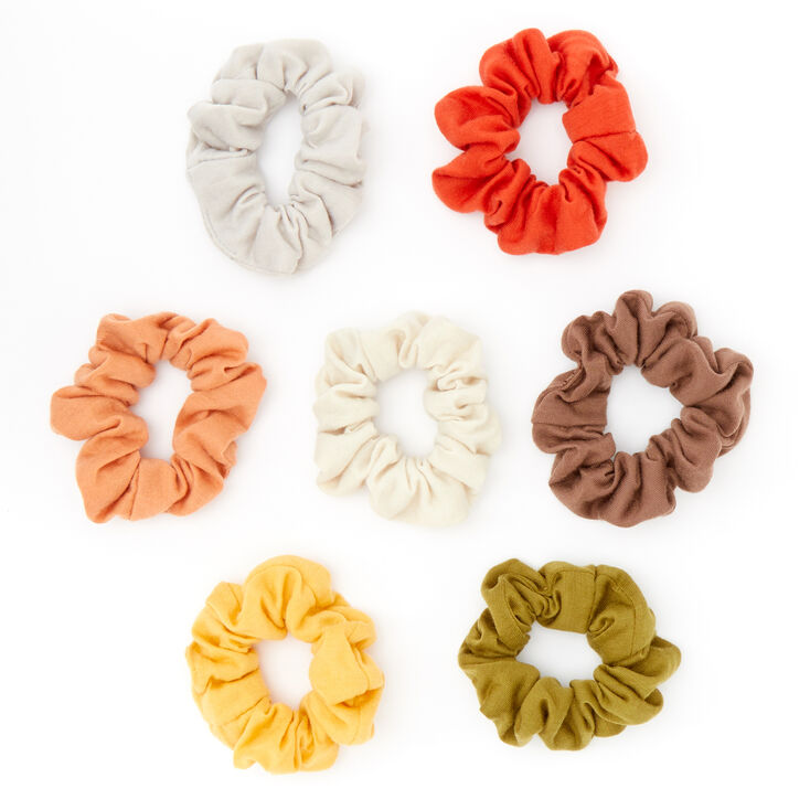 Small Rustic Forest Hair Scrunchies - 7 Pack,