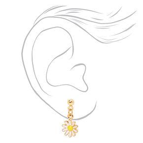 Gold Flower Power Mixed Earrings - 9 Pack,
