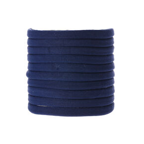 Navy Hair Bobbles - Blue, 10 Pack,