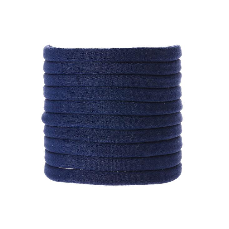 Navy Hair Bobbles - Blue, 10 Pack,