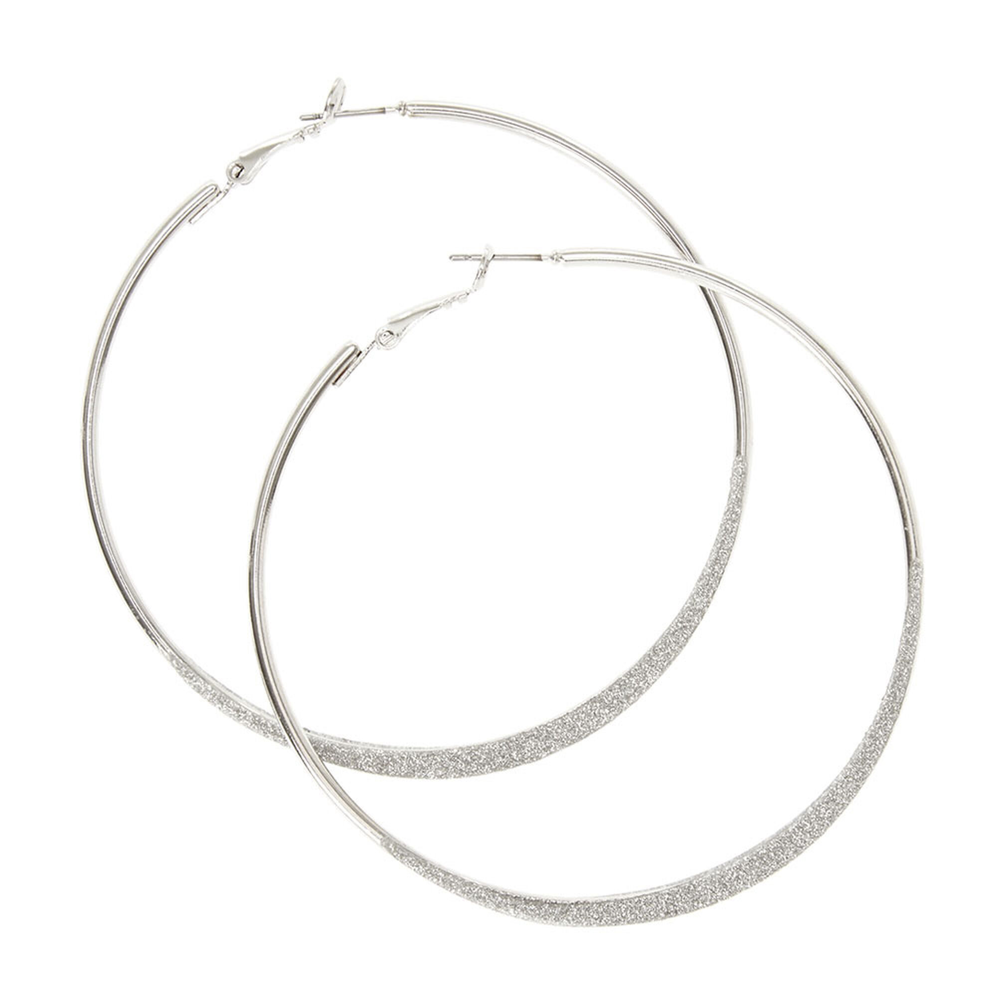 sterling hoop jewellery karma medium silver dogeared earrings