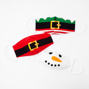 3 Pack Cotton Christmas Themed Face Masks - Adult,