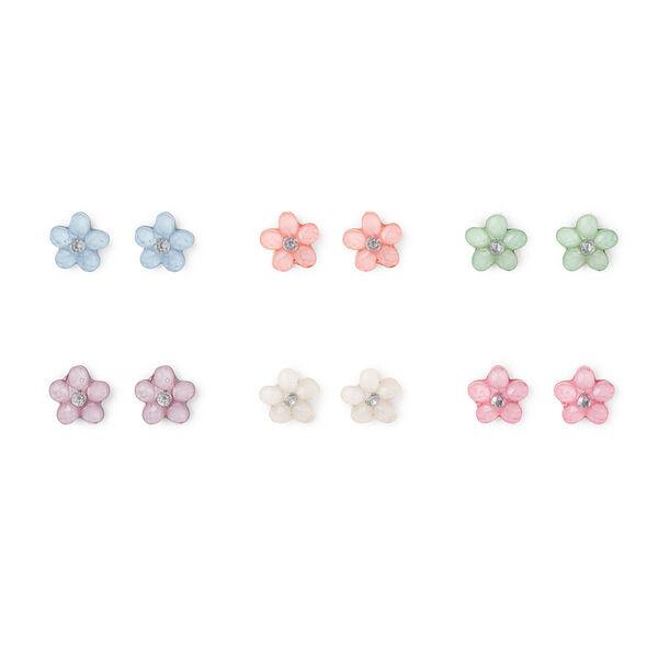 Claire's - pastel flower stud earrings - 1