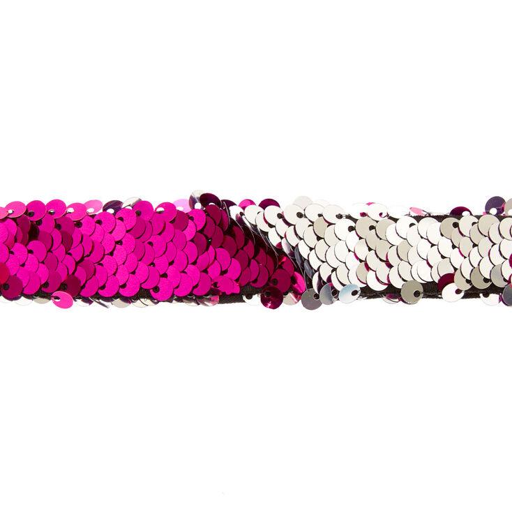 Hot Pink & Silver Reversible Sequins Bracelet,