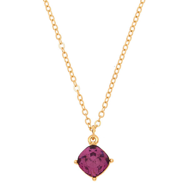 Claire's - february birthstone pendant necklace - 1