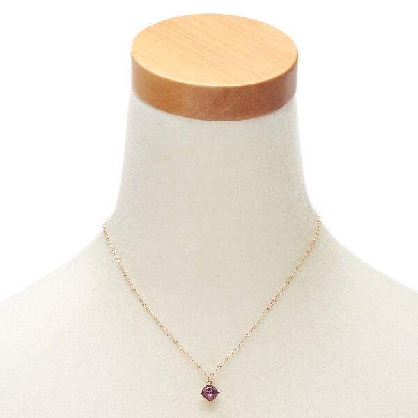 Claire's - february birthstone pendant necklace - 2