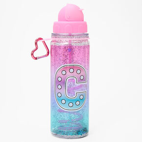 Initial Water Bottle - Pink, C,