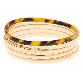 f1d95fd2add Gold Resin Tortoiseshell Bangle Bracelets - 5 Pack