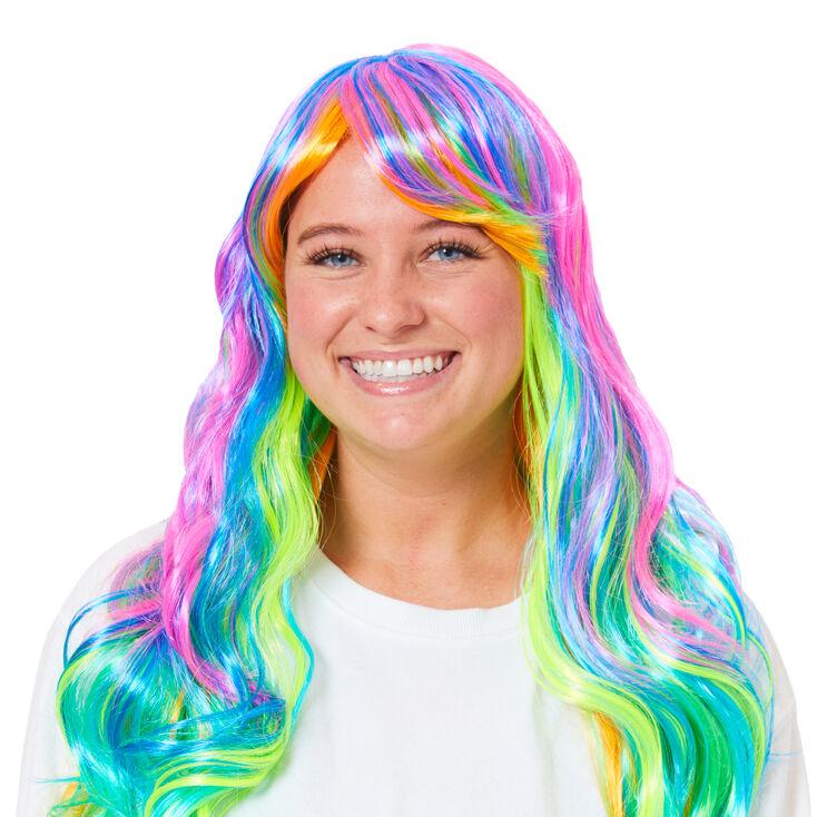 Rainbow Highlighted Wig,