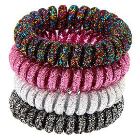 Metallic Lurex Spiral Hair Bobbles - 4 Pack,