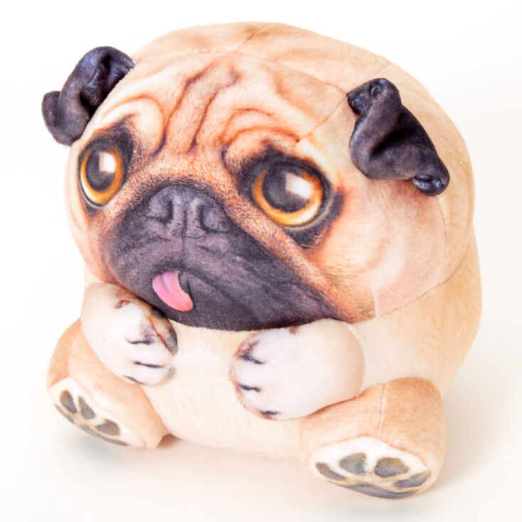 Realistic Pug Stuffed Animal, Wild Alive Katie The Pug Plush Toy Brown Claire S Us