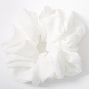Giant Hair Scrunchie - White,