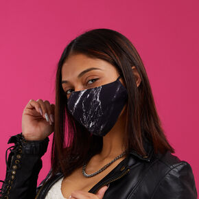 3 Pack Cotton Solid & Black Marble Face Masks – Adult,