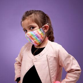Cotton Rainbow Unicorn Face Mask - Child Medium/Large,