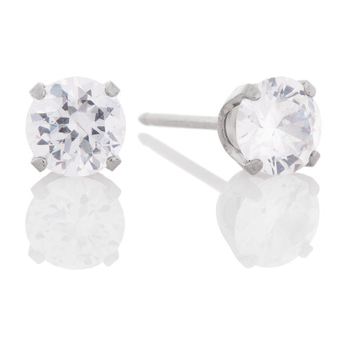 Stainless Steel 5mm Cz Crystal