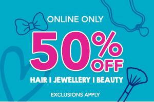 50% off Hair/ Jewelry/ Beauty