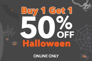 b1g1 50% off halloween