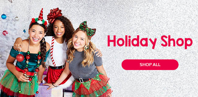 girls in Christmas dress up outfits - Holiday Shop Claire's US