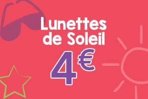 Lunettes de Soleil à 4€