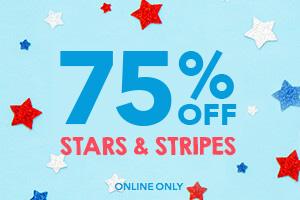 75% off stars & stripes