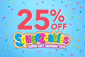 25% OFF SQUEEZABLE SQUISHES